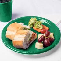 Creative Converting 28112031 10 inch Emerald Green Plastic Plate - 240/Case