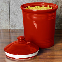 Homer Laughlin 571326 Fiesta Scarlet Small 1 Qt. Canister with Cover - 2/Case