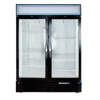 Beverage Air MMF49-1-B Black Marketmax 2 Glass Door Merchandising Freezer with Swing Doors - 49 Cu. Ft.