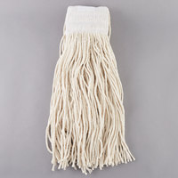 Continental Wilen A401024 24 oz. Cut End Natural Cotton Mop Head with 5 inch Band