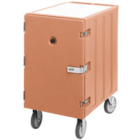 Cambro 1826LTCSP157 Camcart Coffee Beige Mobile Cart for 18 inch x 26 inch Sheet Pans and Trays with Security Package