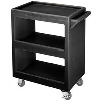 Cambro BC2254S110 Black Three Shelf Service Cart - 28 inch x 16 inch x 32 1/4 inch