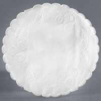 4 inch White Floral Linen Paper Doilies - 1000 / Pack