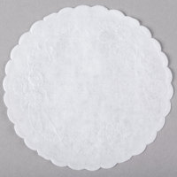 4 inch White Floral Linen Paper Doilies - 1000/Pack