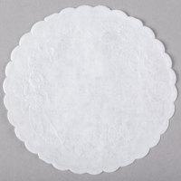 4 inch White Floral Linen Paper Doilies - 1000/Case
