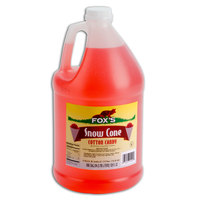 Fox's 1 Gallon Cotton Candy Snow Cone Syrup   - 4/Case