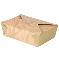 Bio-Plus-Earth 03BPSONOMM Sonoma 8 inch x 6 inch x 2 1/2 inch Microwavable Paper #3 Take Out Container 50 / Pack