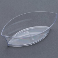Fineline Tiny Temptations 6207-CL 4 1/4 inch x 2 1/4 inch Tiny Treasures Disposable Clear Plastic Tray - 200/Case