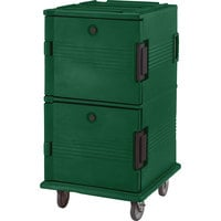 Cambro UPC1600HD519 Green Ultra Camcart Insulated Food Pan Carrier with Heavy Duty Casters