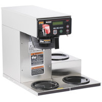 Bunn 38700.0009 Axiom DV-3 Automatic Coffee Brewer with 3 Lower Warmers - Dual Voltage