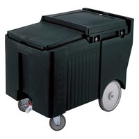 Cambro ICS175LB110 SlidingLid Black Portable Ice Bin - 175 lb. Capacity