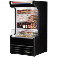 True TAC-14GS-LD 30 inch Black Refrigerated Glass Sided Air Curtain Merchandiser