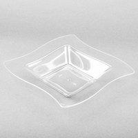 Fineline Wavetrends 112-CL Clear Plastic Bowl 12 oz. - 10/Pack