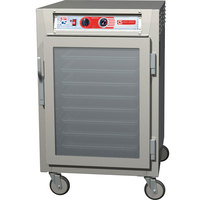 Metro C5Z65-NFC-UPFC C5 Pizza Series Pass-Through Insulated Heated Holding Cabinet - Half Size with Clear Doors 120V