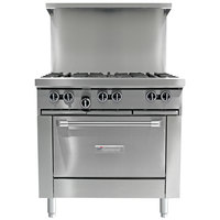 Garland G36-4G12S Natural Gas 4 Burner 36 inch Range with 12 inch Griddle and Storage Base - 150,000 BTU
