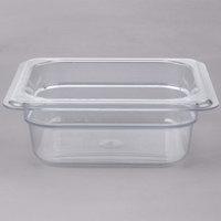 Cambro 62CW135 Camwear 1/6 Size Clear Food Pan - 2 1/2 inch Deep