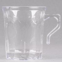 Fineline Flairware 208-CL Clear 8 oz. Plastic Coffee Mug   - 288/Case