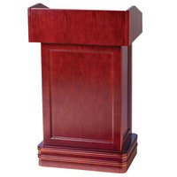 Aarco POD-1 Hostess Podium with Cherry Finish