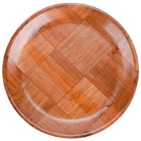 8 inch Woven Wood Plate - 12/Pack