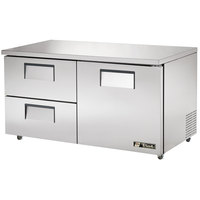True TUC-60D-2-ADA 60 inch ADA Height Undercounter Refrigerator with One Door and Two Drawers