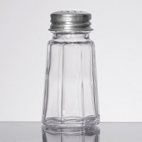 1 oz. Flat Paneled Salt and Pepper Shaker - 4/Pack
