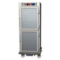 Metro C599-SDC-LPDS C5 9 Series Pass-Through Heated Holding and Proofing Cabinet - Solid / Clear Dutch Doors