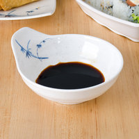 Thunder Group 3545BB Blue Bamboo 6 oz. Round Melamine Saucer - 12/Case