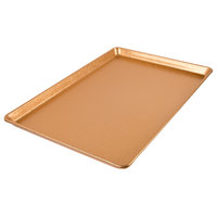 Chicago Metallic 40930 Textured Gold 12 inch x 18 inch Bakery Display Tray