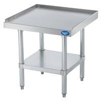 Vollrath 40740 24 inch x 24 inch Stainless Steel Standard Duty Equipment Stand with Galvanized Undershelf