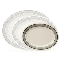 GET OP-950-CA 9 3/4 inch x 7 1/4 inch Diamond Cambridge Oval Platter - 24/Case