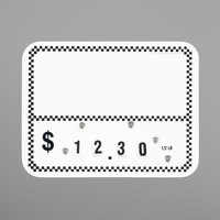 Write On Deli Tag Wheel with Insert - Black Checkered   - 25/Pack