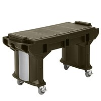 Cambro VBRTLHD5146 Bronze 5' Versa Work Table with Heavy Duty Casters - Low Height