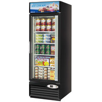 Turbo Air TGF-23F Black 27 inch Single Glass Door Merchandising Freezer - 23 Cu. Ft.