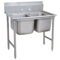 Advance Tabco 9-2-36 Super Saver Two Compartment Pot Sink - 44 inch
