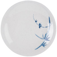 Thunder Group 1306BB Blue Bamboo 6 3/8 inch Round Melamine Plate - 12/Pack