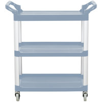 Vollrath 97005 Gray Multi-Purpose Utility Cart with Three Shelves