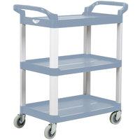Vollrath 97005 Gray Multi-Purpose Utility Cart with Three Shelves