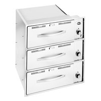 Wells RW36HD 3 Drawer Heavy Duty Built-In Warmer - 120V