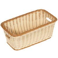 GET WB-1520-TT Designer Polyweave Plastic Rectangular Basket 16 inch x 9 inch x 6 3/4 inch - 6/Pack