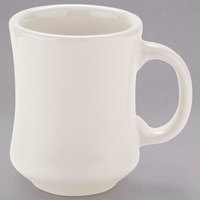 Tuxton BEM-0806 DuraTux 9 oz. Eggshell Princess China Mug - 24/Case