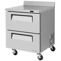 Turbo Air TWF-28SD-D2 Super Deluxe 28 inch Worktop Freezer with Two Drawers