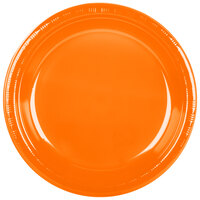 Creative Converting 28191031 10 inch Sunkissed Orange Plastic Plate - 20 / Pack