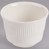 7 oz. Ivory (American White) Embossed Rim China Bouillon Cup - 36/Case