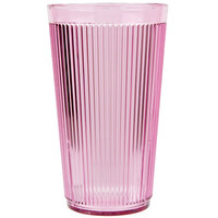 Carlisle 401655 16 oz. Rose Crystalon Stack-All SAN Plastic Tumbler - 12/Case