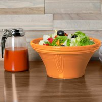 Homer Laughlin 431325 Fiesta Tangerine 1.25 Qt. Hostess Serving Bowl - 4/Case