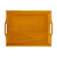 GET RST-1814-N 18 inch x 14 inch Hardwood Room Service Tray - Natural