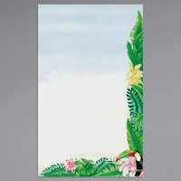8 1/2 inch x 14 inch Menu Paper - Tropical Themed Toucan Design Right Insert - 100/Pack