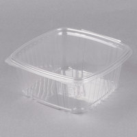 Genpak AD64 2 Qt. Clear Hinged Deli Container - 100/Pack