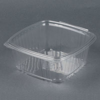 Genpak AD64 8 inch x 8 1/2 inch x 3 1/4 inch 2 Qt. Clear Hinged Deli Container - 100 / Pack