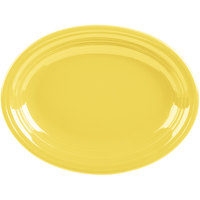 Homer Laughlin 457320 Fiesta Sunflower 11 5/8 inch Medium Oval Platter   - 12/Case